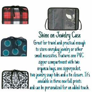 Thirty One Shine On Jewelry Case in La Di Dot NWT